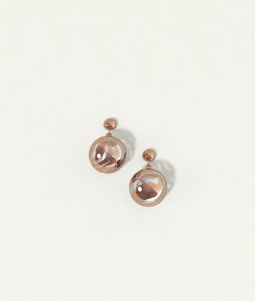 Swirl Earrings Bronze