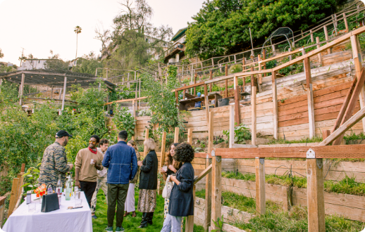 Community event at Garden in Los Angeles