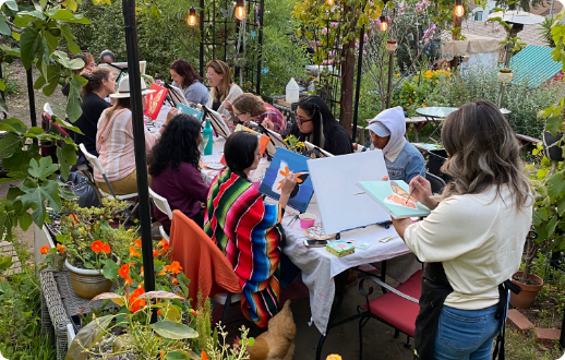 Painting event at Healing Garden