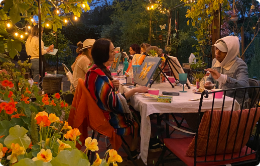 Painting event in Healing Gardens