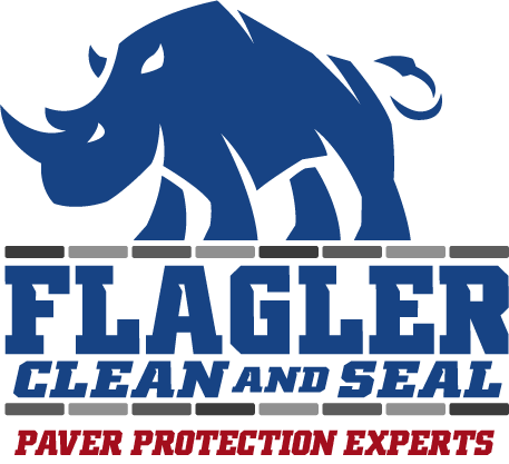 Flagler Clean and Seal rhino logo vertical with tagline