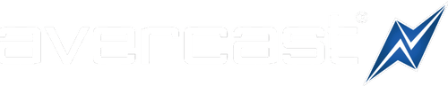 Avercast white logo