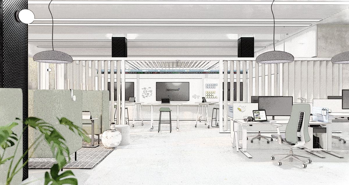 Architectural Interiors: Haworth Pergola