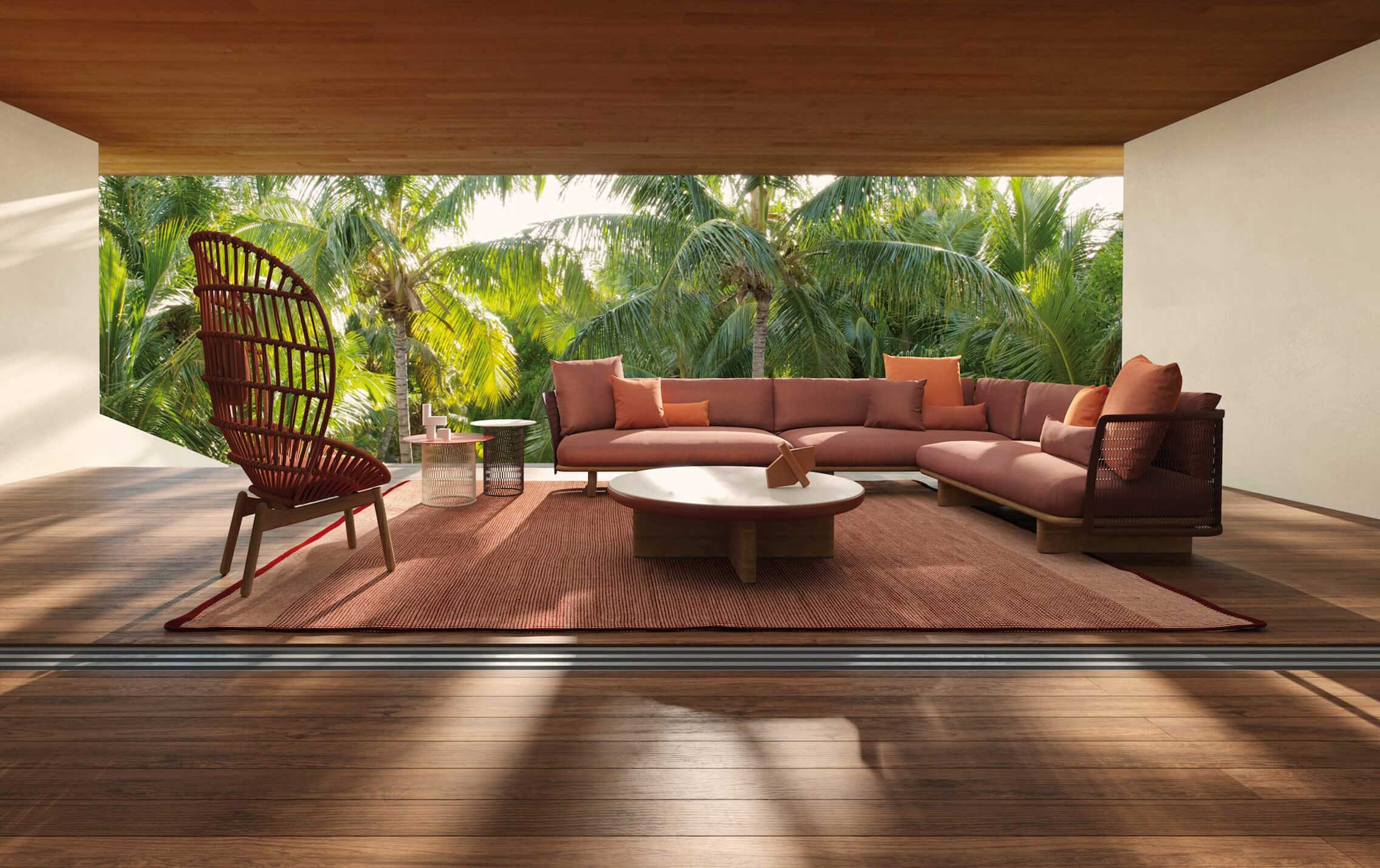 Outdoor: Kettal Mesh 3 Seater Sofa