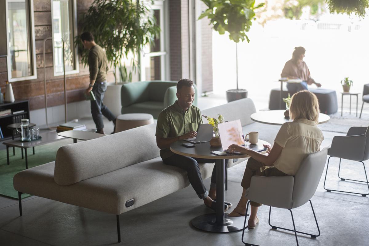 Social Spaces: Haworth Cabana Lounge