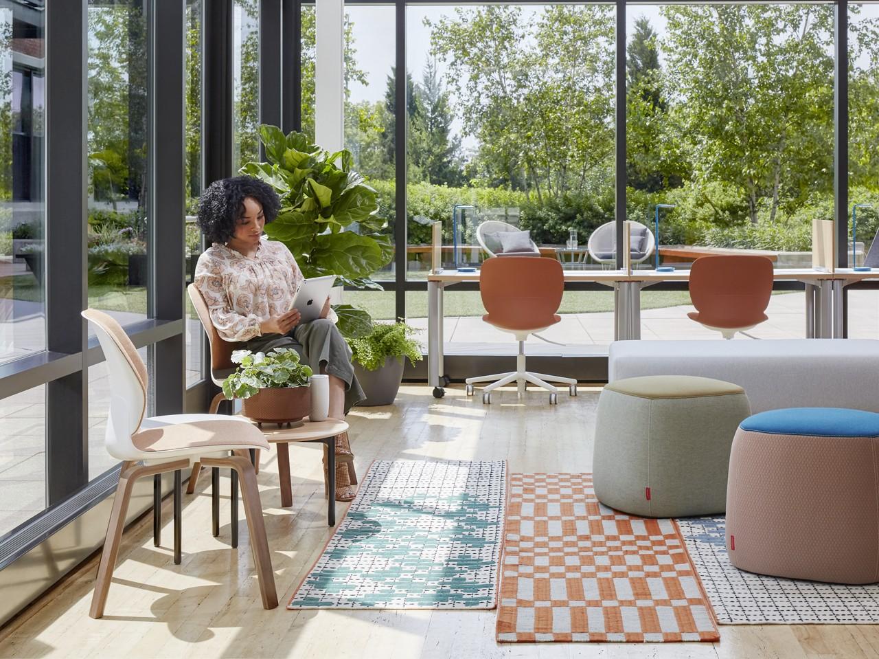 Social Spaces: Haworth Collection GAN Bandas Space