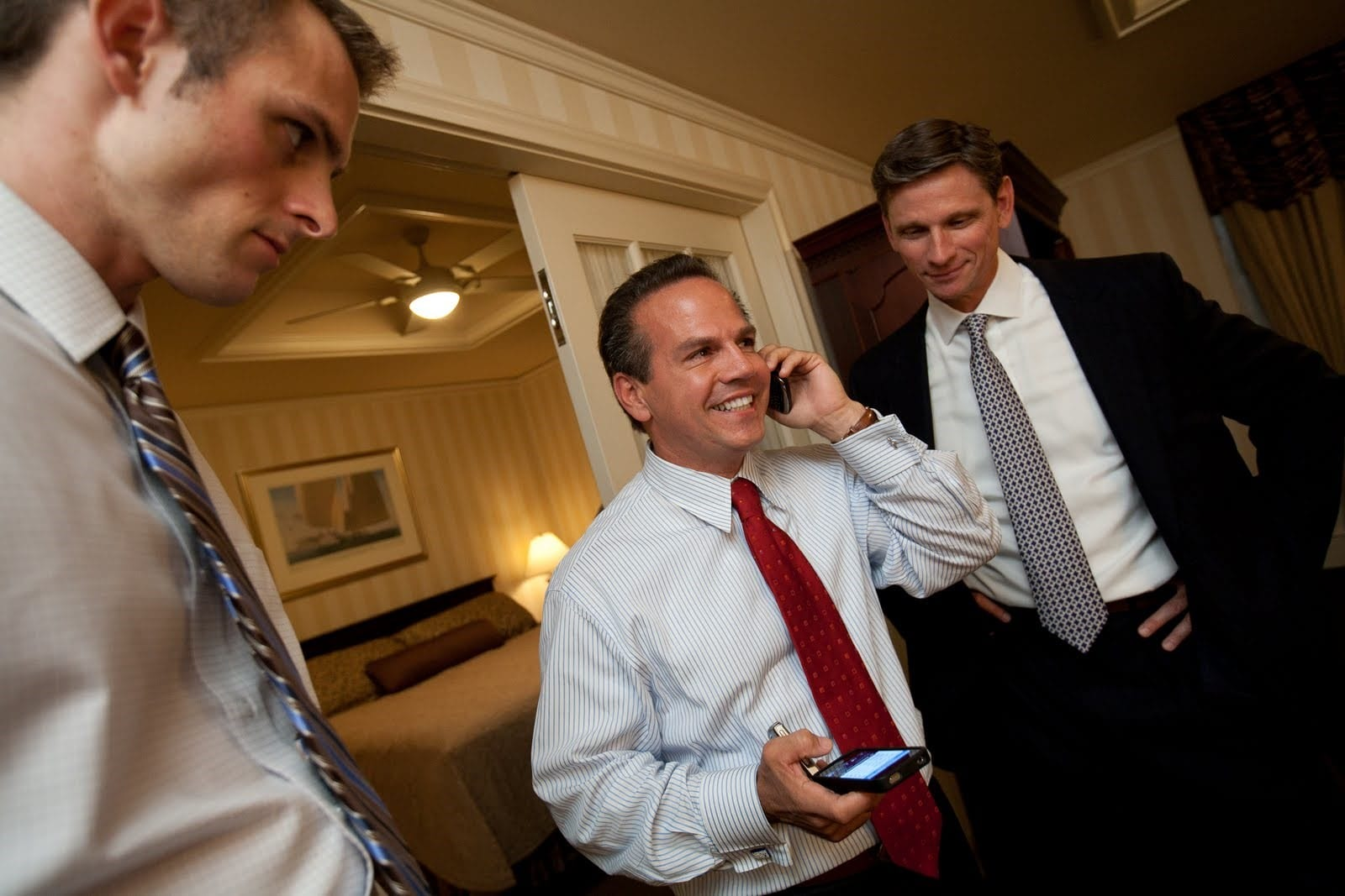 Victory Fund's Chuck Wolfe with David Cicilline shortly after winning his race for U.S. Congress.