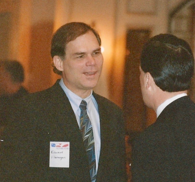Ed Flanagan attends a Victory Fund fundraiser.