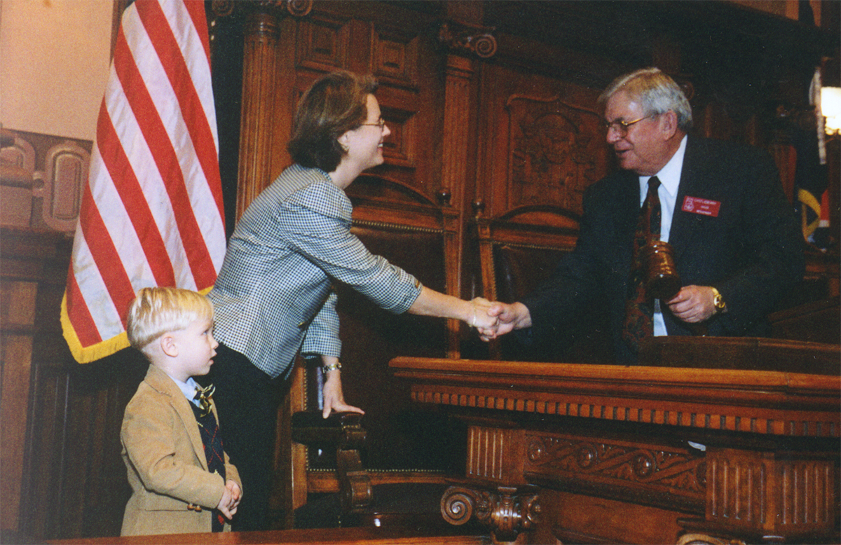 Rep. Drenner at her swearing in.