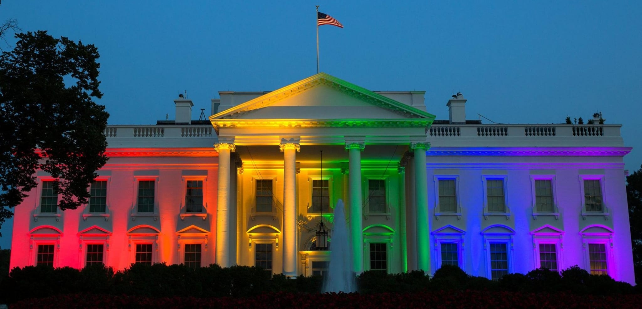 Obama officials celebrated the Supreme Court's June 2015 ruling by lighting up the White House with the colors of the Pride flag.