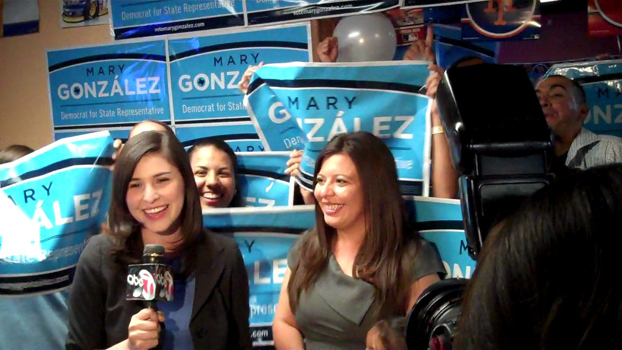 Rep.-elect Mary Gonzalez on election night in 2012.