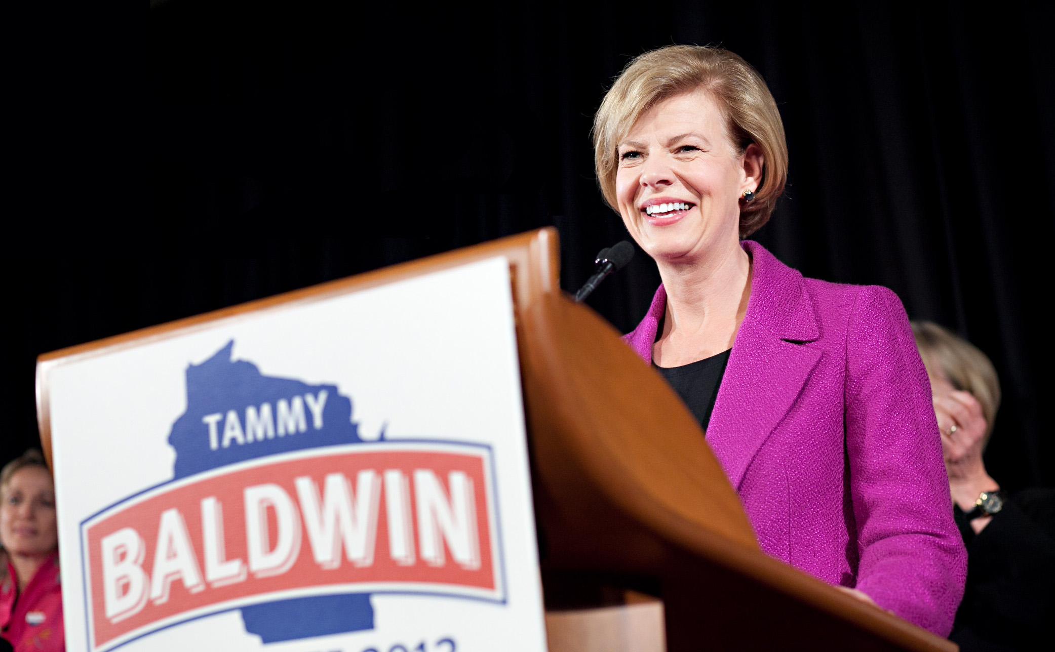 Baldwin on election night in 2012.