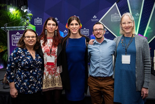 Trans elected officials at Victory Institute's International LGBTQ Leaders Conference (left to right): Monika Nemeth, Brianna Titone, Delegate Danica Roem, Tyler Titus and Lisa Bunker