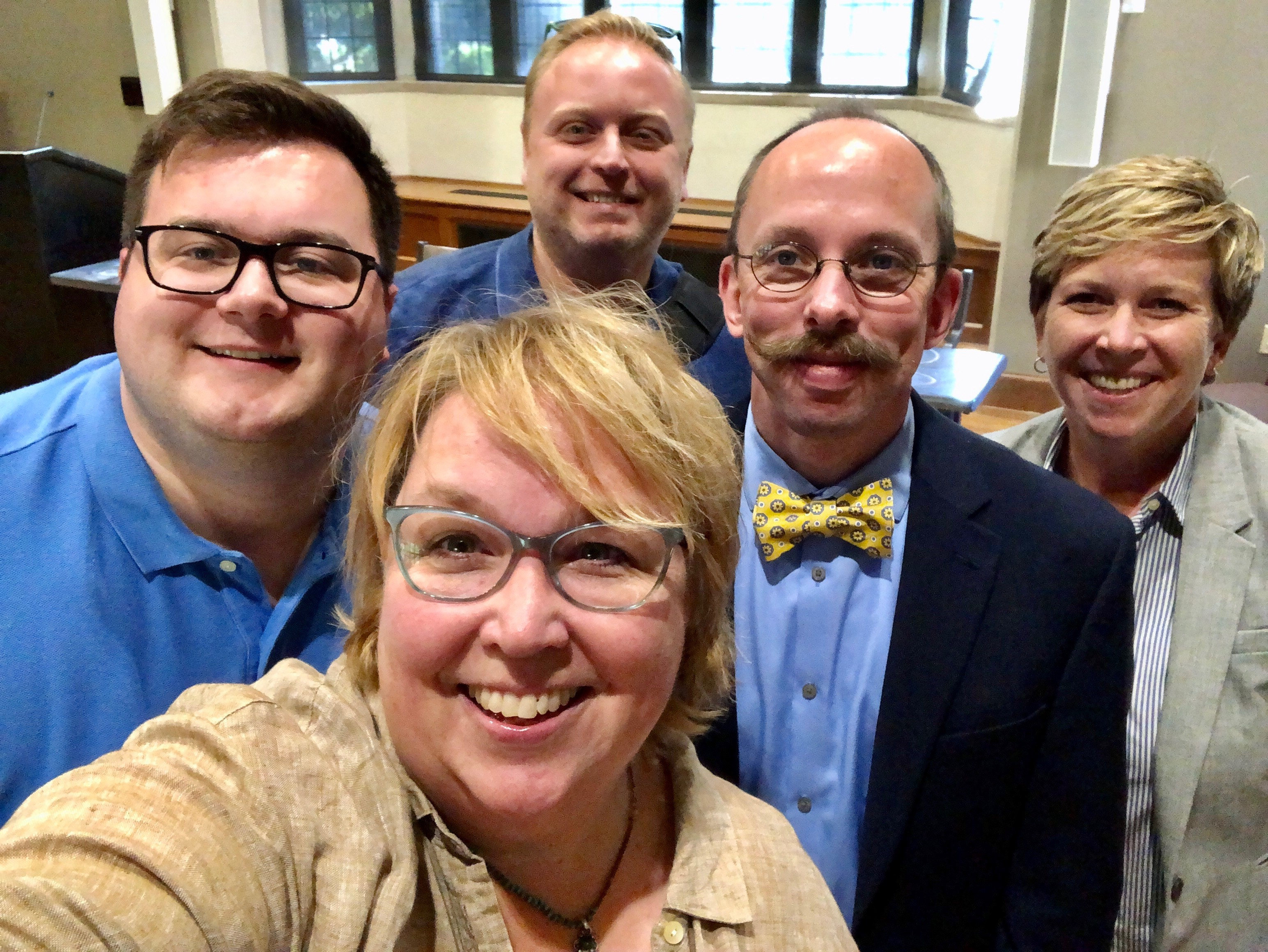 The five out members of the Nashville Metro Council pose shortly after creating the first LGBTQ Caucus.