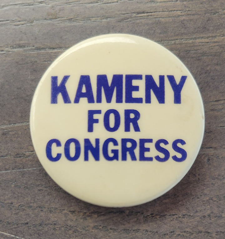 Kameny for Congress pin