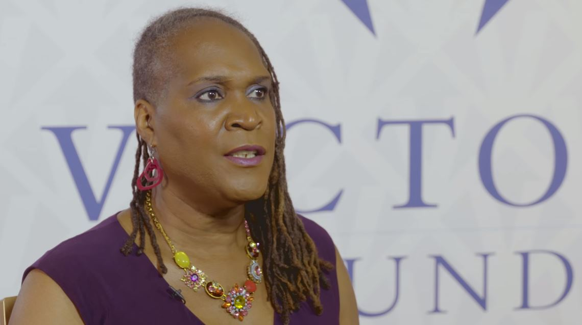 Candidate Andrea Jenkins at Victory Fund's National Champagne Brunch in 2017.