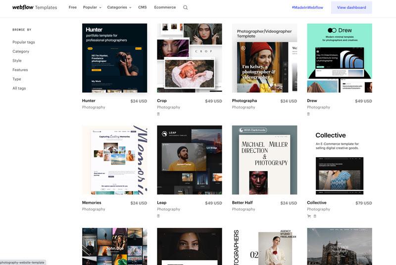 Templates Webflow