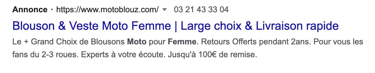 Annonce textuelle Google Ads