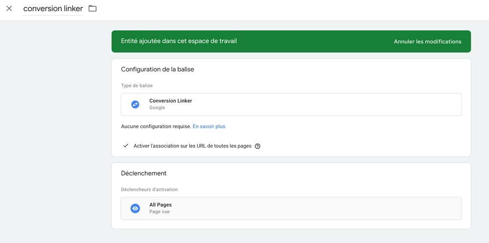 Conversion Linker Google Ads
