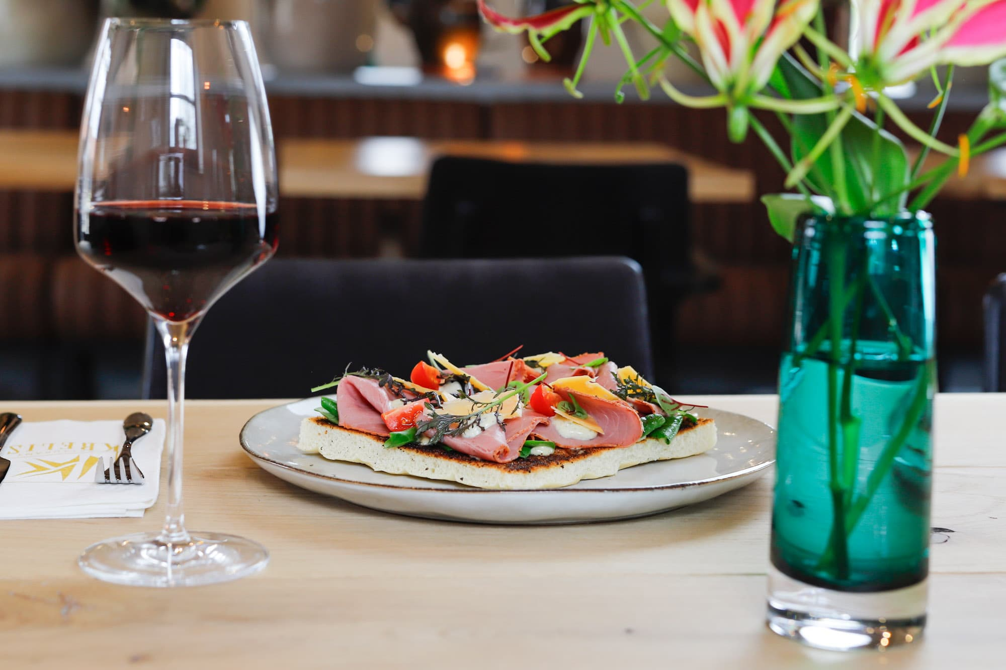 Restaurant Krelis lunchgerecht met pastrami
