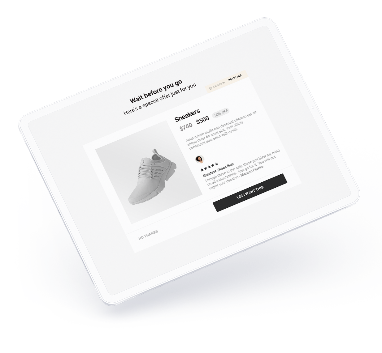 Upsells, Automatic discounts and social proof checkout elements.