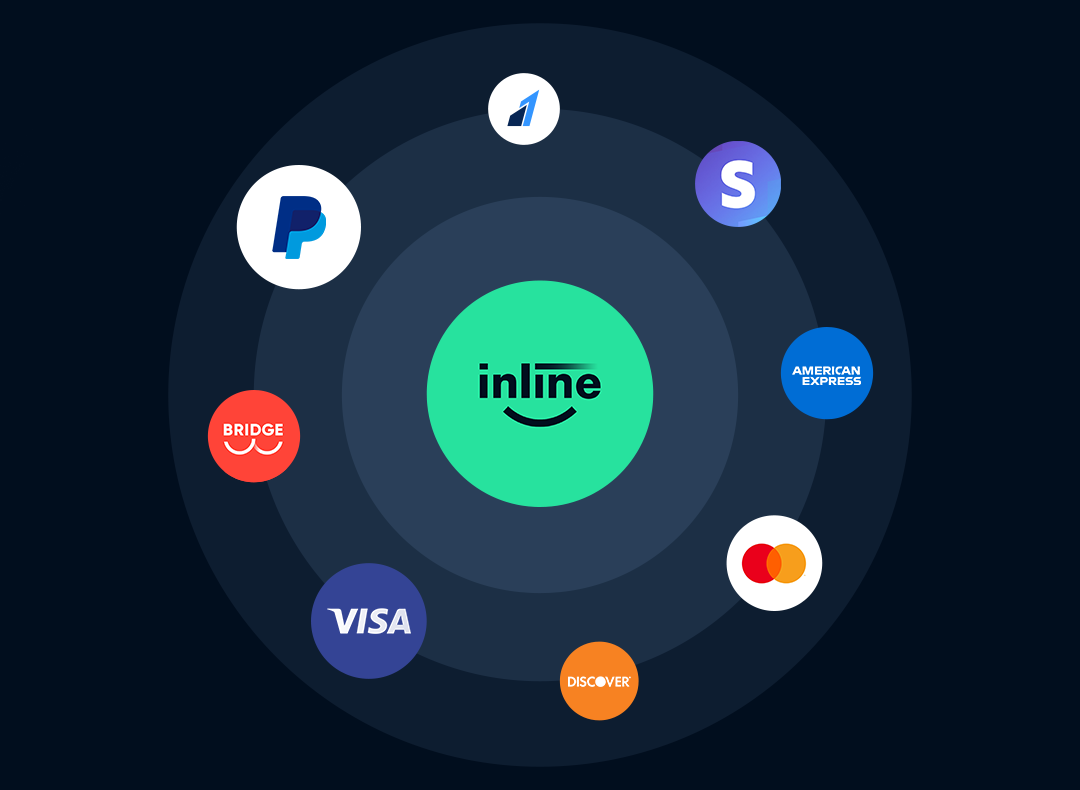 Inline Checkout offers multiple regular and alternative payment methods on custom checkout page