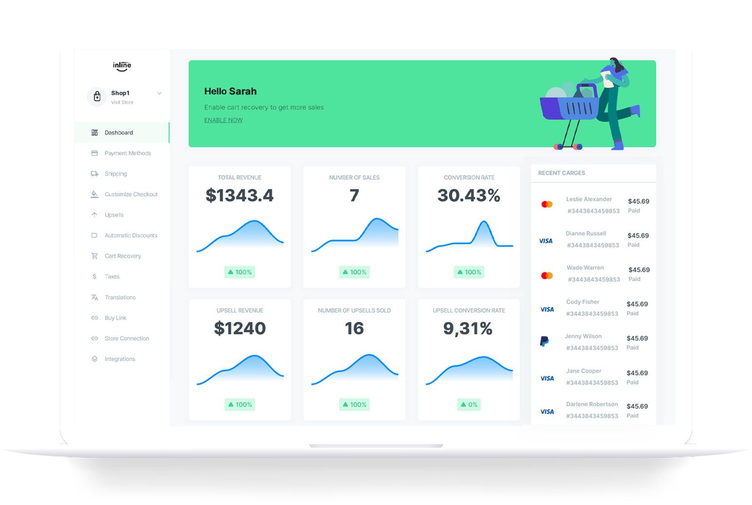 Inline Checkout - Custom Checkout for Shopify and WooCommerce merchants.