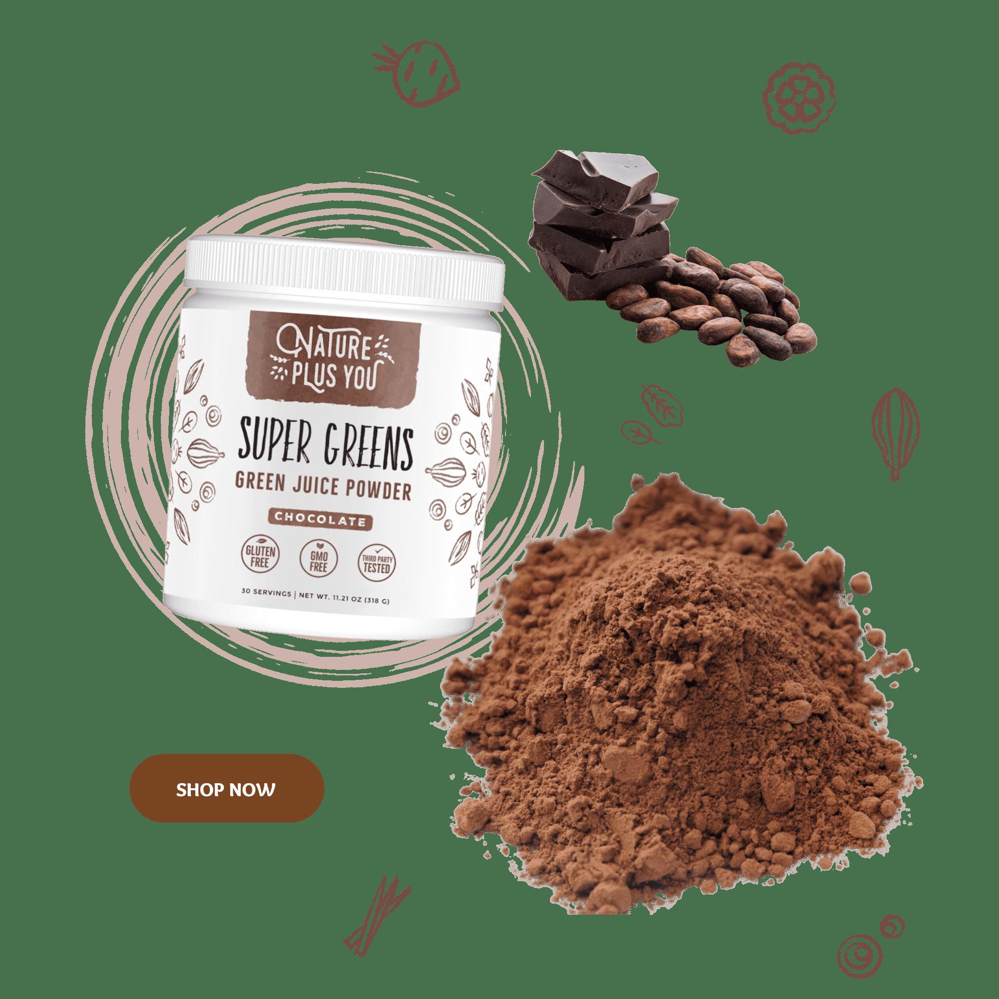 Chocolate Super Greens Powder