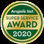 Angie's List Super Service Award 2020 emblem | Keyprime Roofing
