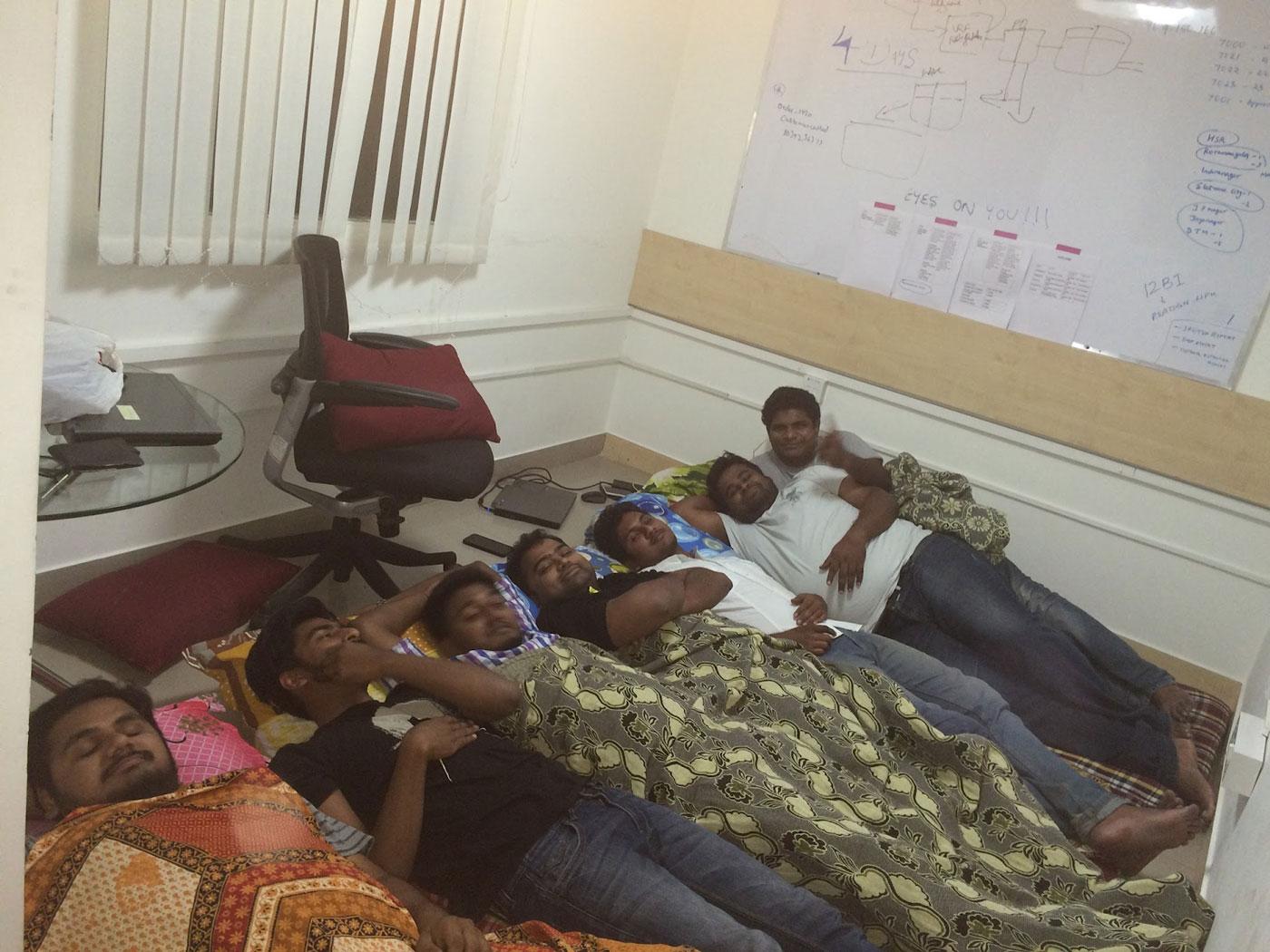 Meet The Ninjacart Team | Early Days of Ninjacart Team - Founders sleeping in the office