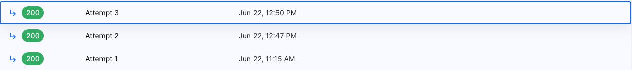 webhook event attempts