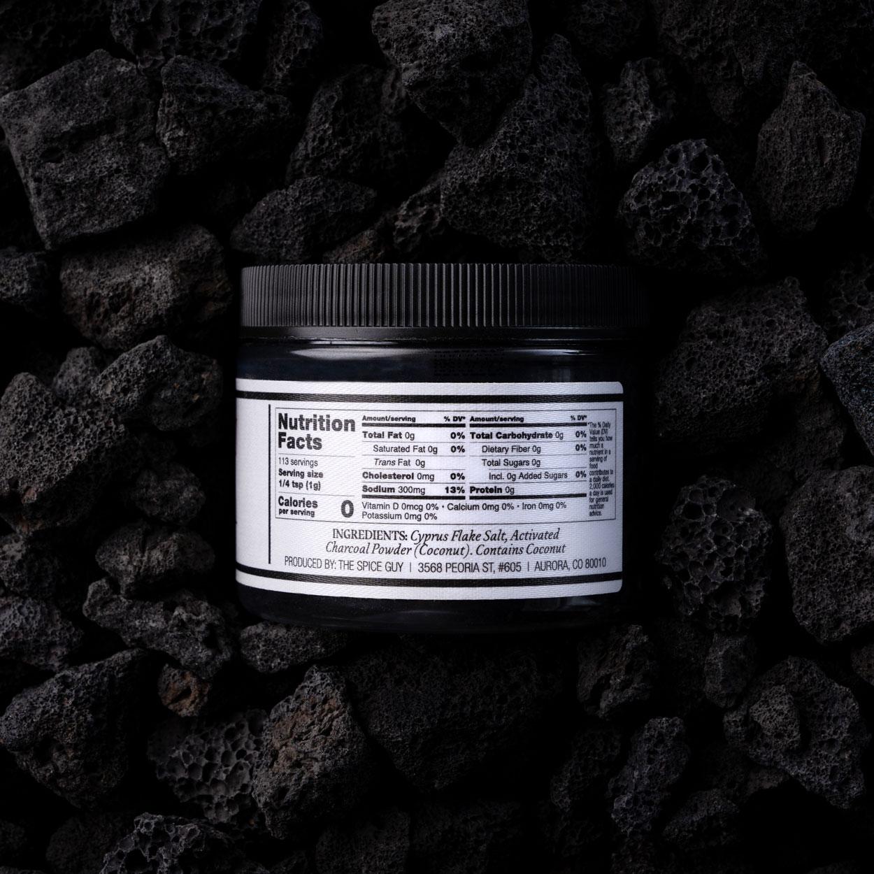 Sumi Shio Wagyu Beef Dry Rub Ingredients Charcoal Coconut Oil & Cypress Salt