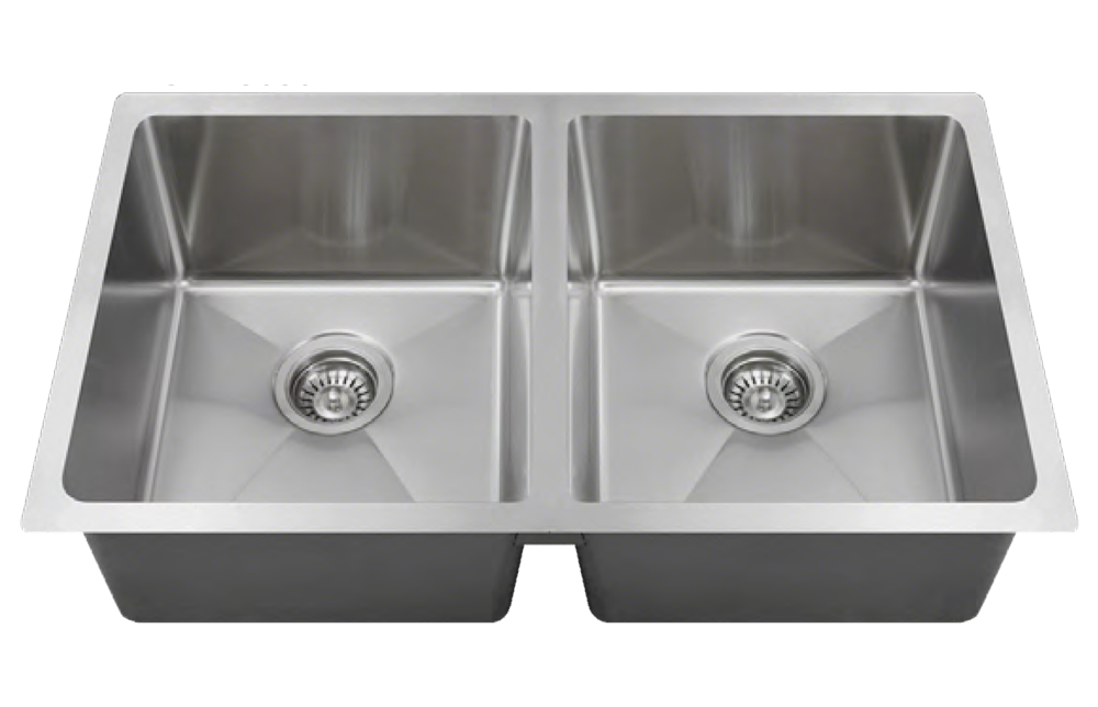Stainless Equal Double Bowl - Square