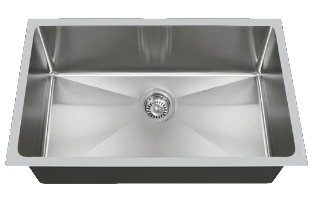 Stainless Large Single Bowl - Square