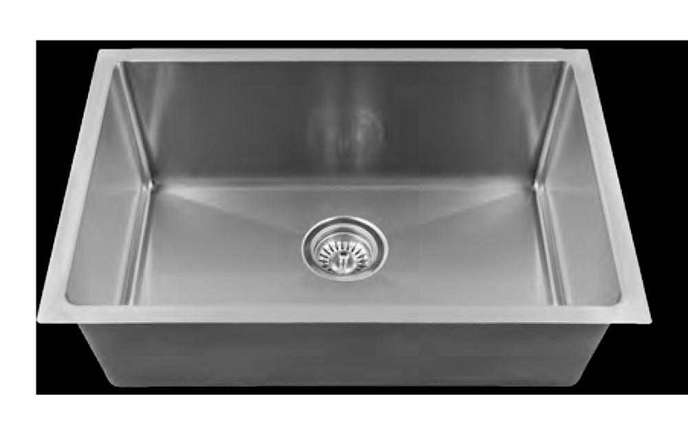 Stainless Medium Single Bowl - Square