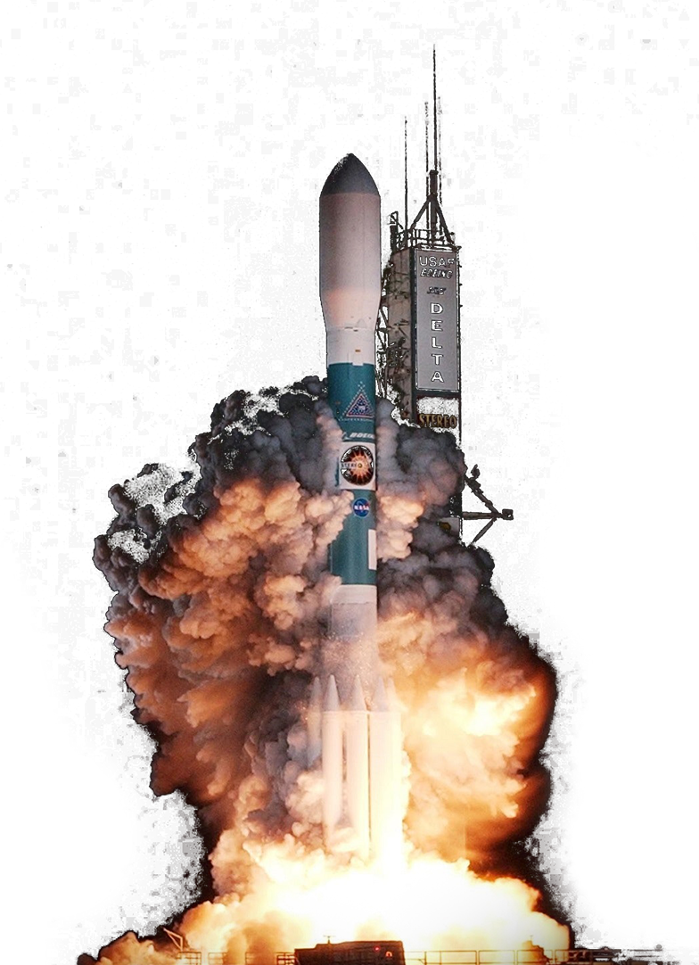 Space Rocket taking off