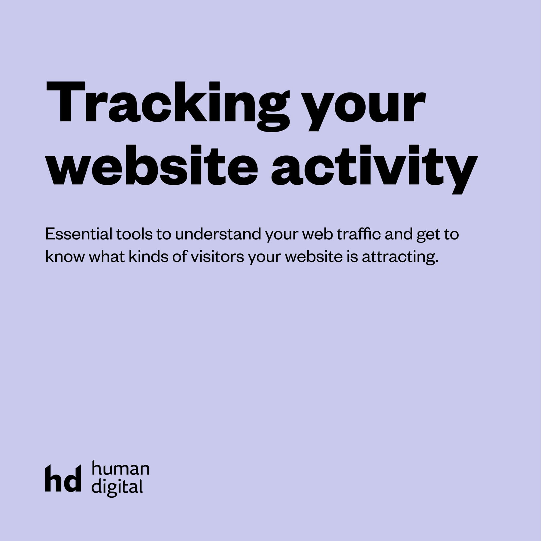 Tracking your website activity