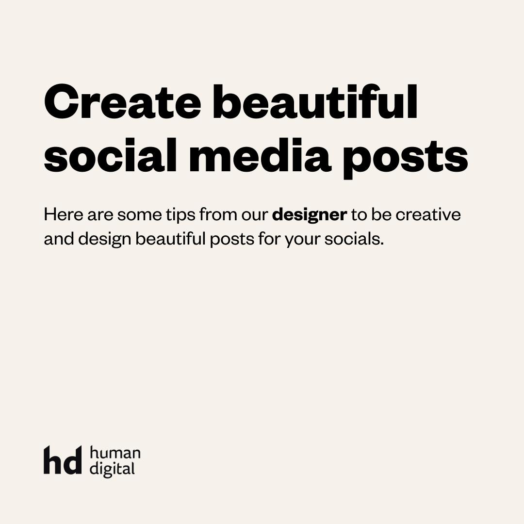 Create beautiful social media posts