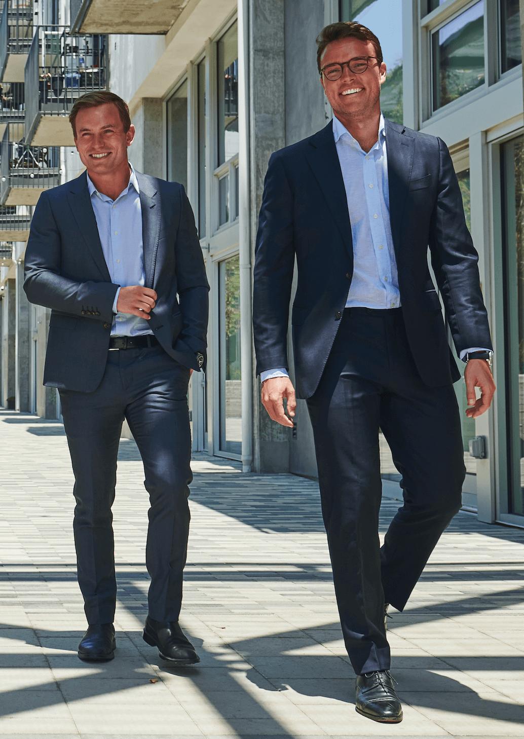 Charles and Seb walking