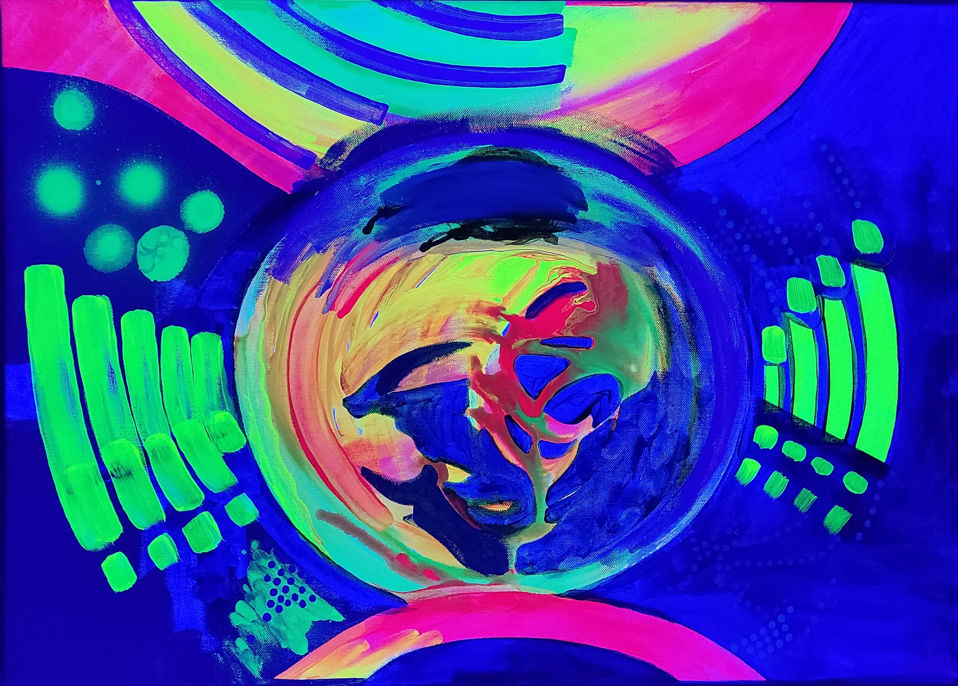 UV, uv art, uv artist, psychodelic, ultrafiolet, w ultrafiolecie, obraz uv, oryginalny prezent
