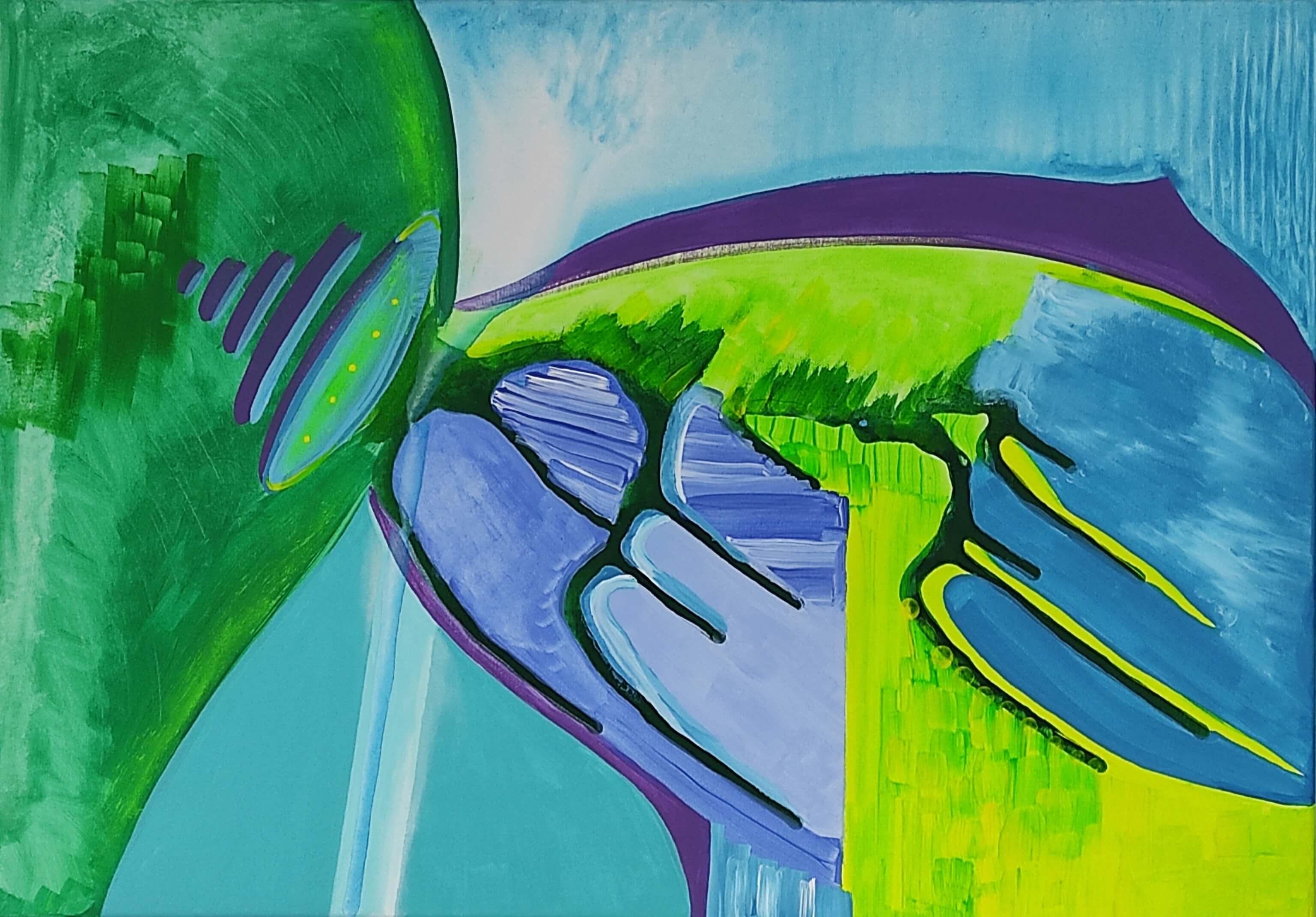 obraz akrylowy, art, malarstwo abstrakcyjne, sztuka współczesna, abstrakcja, wyobraźnia, kosmos, morska głębina, ocean, zielony, warszawa śródmieście, polski artysta,obraz na sprzedaż, malarka, sztuka do wnętrz, aranzacja, mój dom, warszawa, oryginalny prezent, ręcznie malowane, oryginalny prezent