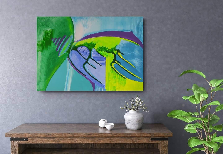 obraz do salonu, wystrój wnętrz, oryginalny prezent, ocean, obraz ręcznie malowany, do salonu, urządzamy mieszkanie, magicznie, w domu najlepiej,
