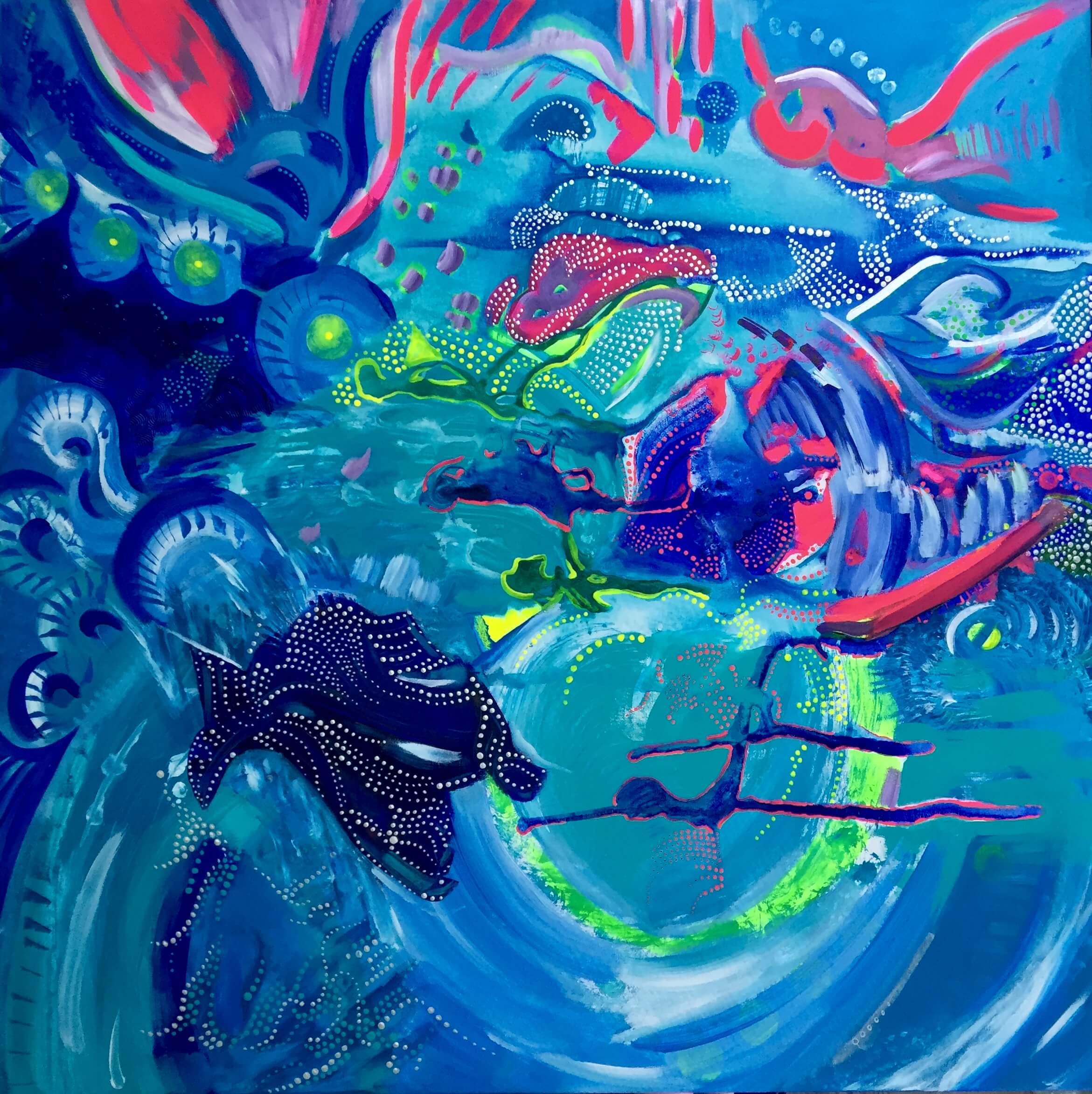 our ocean, ocean, obraz akrylowy, obrazy na sprzedaż, na ścianę, obraz, do salonu, wystrój wnętrz, dekorujemy dom, malarstwo abstrakcyjne, polska sztuka, polski artysta, oryginalny