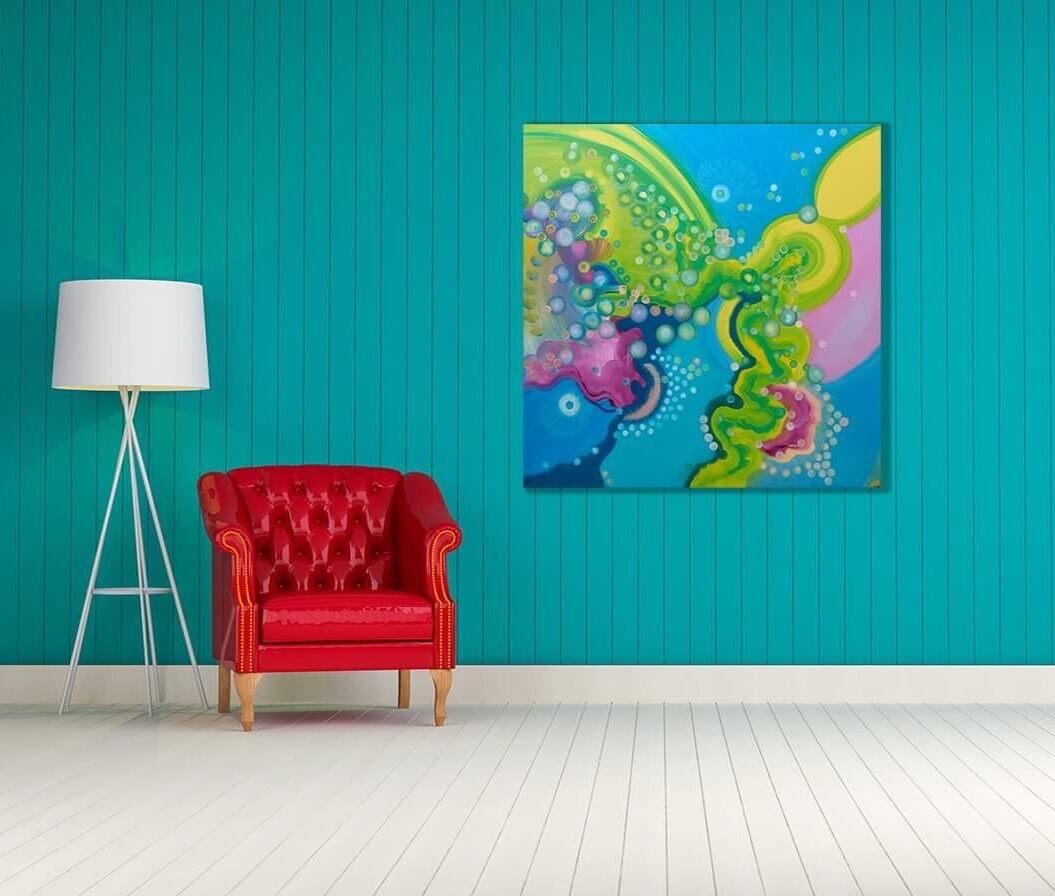 urządzamy mieszkanie, aranżacja wnętrz, ciekawy wystrój, dekorujemy, mój dom moje miejsce, obraz na ścianę, ręcznie malowany, magia, barwa, abstrakcja, obrazy na sprzedaż