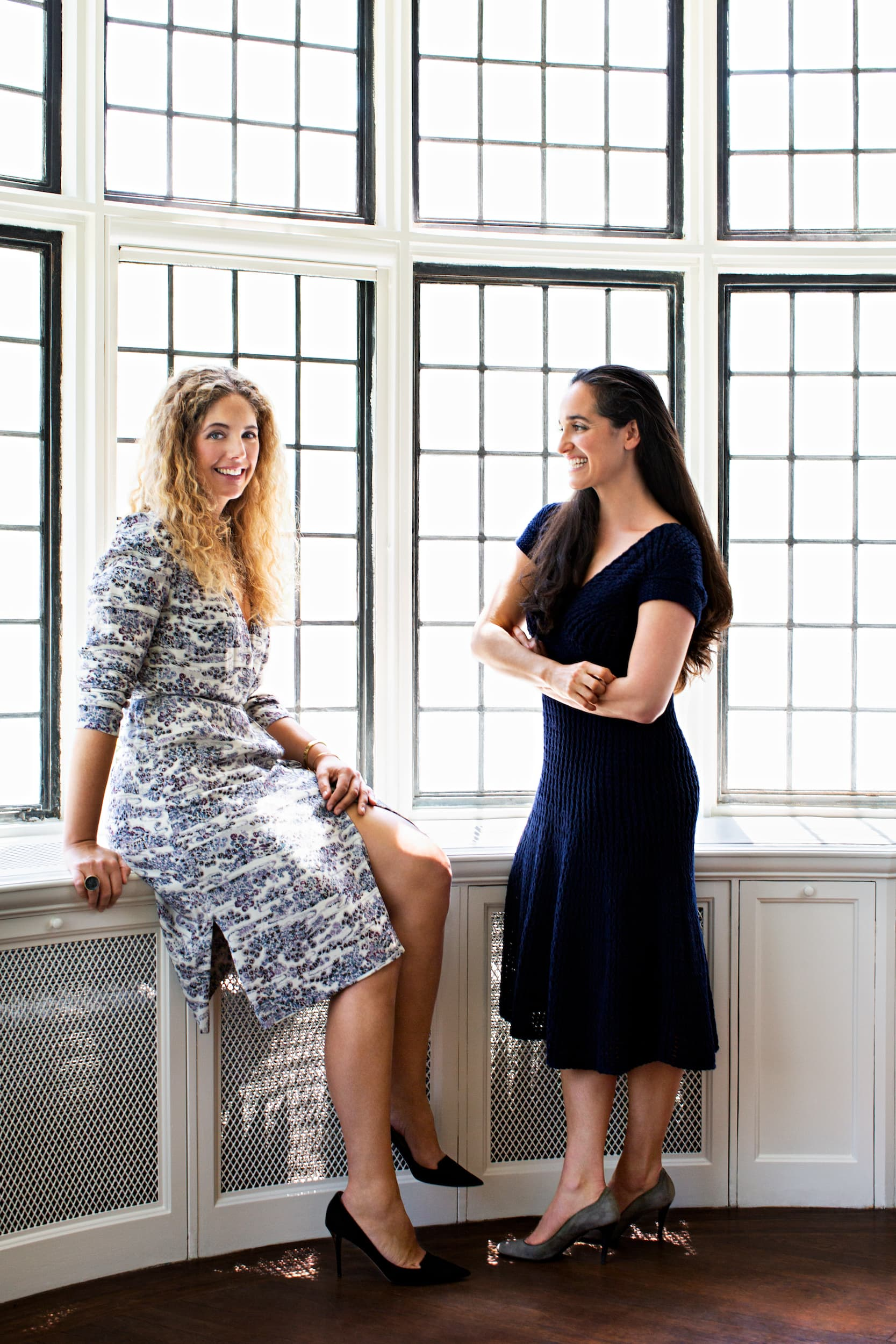 Portrait of Alexandra Pappas and Tatyana Miron Ahlers.