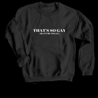 That's so gay Allie and Sam merch, a premium black Crewneck Sweatshirt