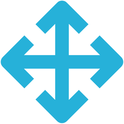 arrow pointing four directions icon