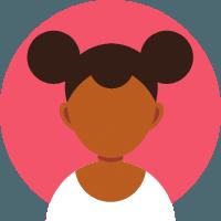 Icon of black woman
