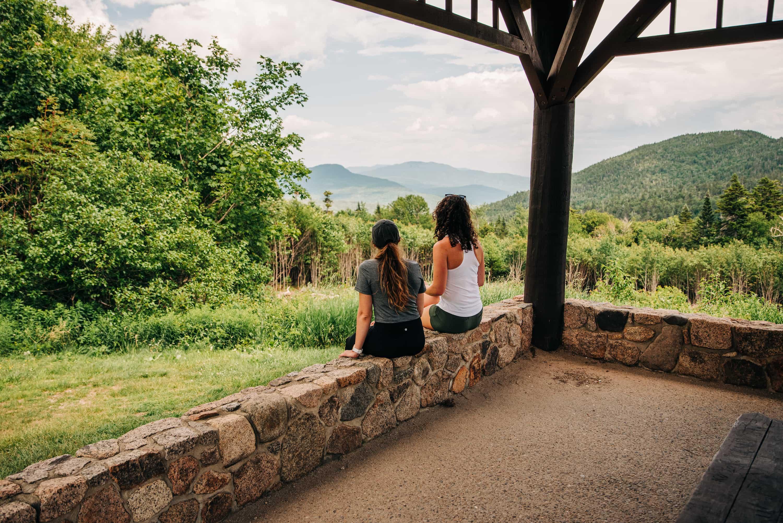 Scenic overlooks on the Kancamagus Highway