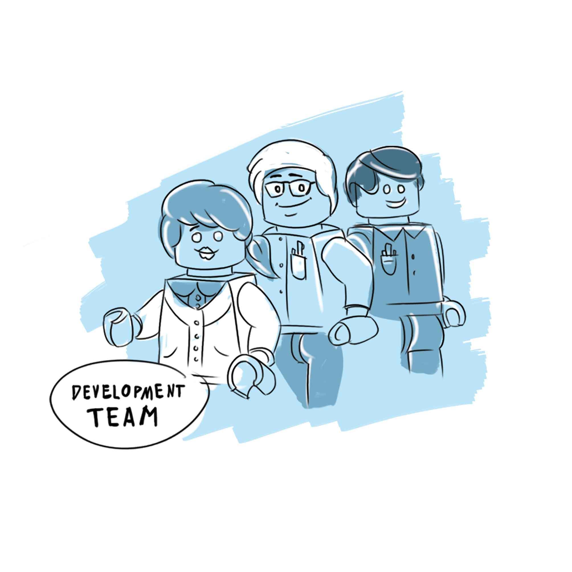 Development Team Zeichnung